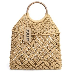 Vintage Straw Beach Bag